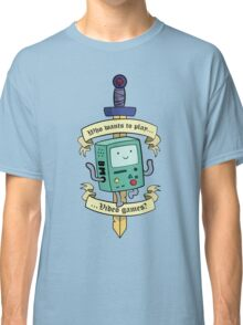 Beemo - Wanna Play Video Games? Classic T-Shirt