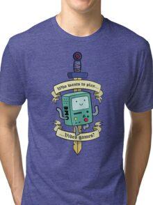 Beemo - Wanna Play Video Games? Tri-blend T-Shirt