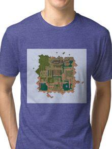 Hyrule Map Dark Legend of Zelda ALttP Tri-blend T-Shirt