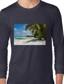 Postcard from the Maldives - Eden on Earth Long Sleeve T-Shirt