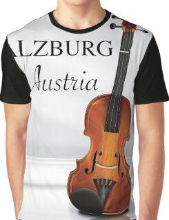 Vienna Austria Violin travel poster Graphic T-Shirt