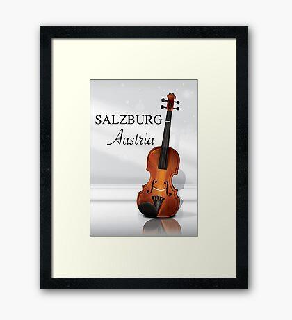 Vienna Austria Violin travel poster Framed Print