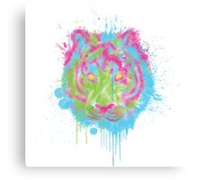 Colored Tiger Canvas Print