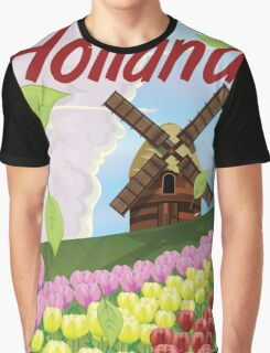 Holland vintage travel poster Graphic T-Shirt