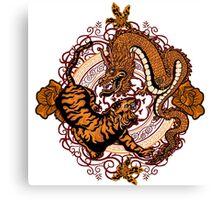 dragon tiger Canvas Print