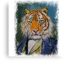 GENTLEMAN TIGER Canvas Print
