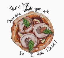 I am Pizza! One Piece - Short Sleeve