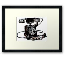 the retro telephone Framed Print