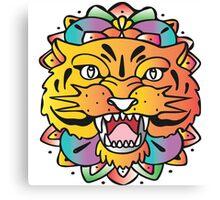 Mandala tiger Canvas Print