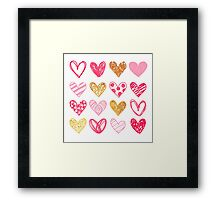 Lovely Hearts Framed Print