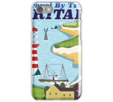 Britain vintage train vacation poster iPhone Case/Skin
