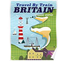 Britain vintage train vacation poster Poster