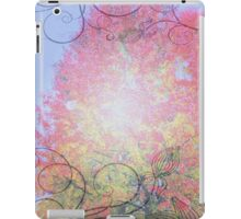 Fall landscape with tree iPad Case/Skin