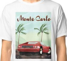 Monte Carlo sports car travel poster Classic T-Shirt