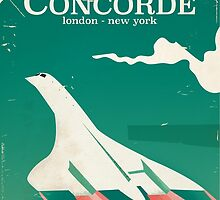 Concorde Vintage Holiday poster  by Nick  Greenaway