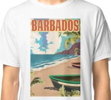 Barbados vintage travel poster Classic T-Shirt