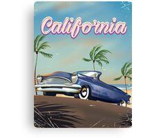California Vintage Auto retro travel poster  Canvas Print
