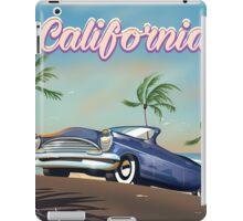 California Vintage Auto retro travel poster  iPad Case/Skin