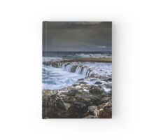 Winter rough sea Hardcover Journal