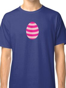 Pink striped Easter Egg Classic T-Shirt