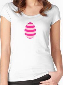 Pink striped Easter Egg Women's Fitted Scoop T-Shirt