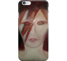 Oil painting of Ziggy Stardust iPhone Case/Skin
