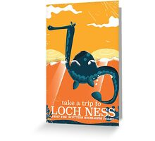 Loch Ness Scotland highlands vintage monster Poster Greeting Card