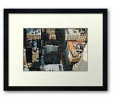 Yellow Taxi Cars New York City Framed Print
