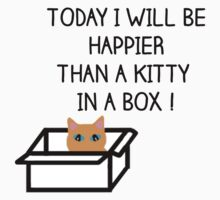 Happier than a kitty in a box CATS Kids Clothes