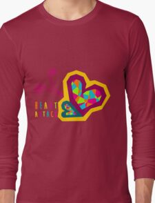 Heart Attack Colorful Pattern Long Sleeve T-Shirt