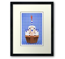 Cupcake Blue Framed Print