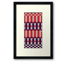 Funny knitted pattern Framed Print