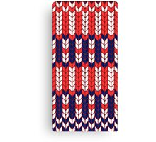 Funny knitted pattern Canvas Print