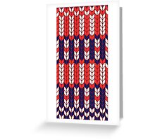 Funny knitted pattern Greeting Card
