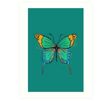 Colorful Butterfly Illustration Art Print