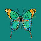 Colorful Butterfly Illustration by Silvia Neto