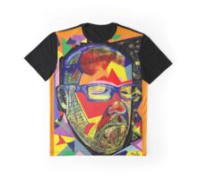 Silent Man in colour Graphic T-Shirt