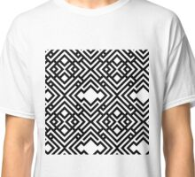 Abstract seamless scandinavian style striped background, textile pattern Classic T-Shirt