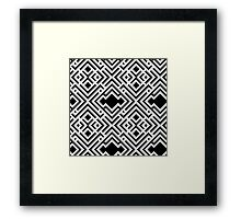 Abstract seamless scandinavian style striped background, textile pattern Framed Print