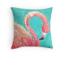 Flaunting Flamingo Throw Pillow