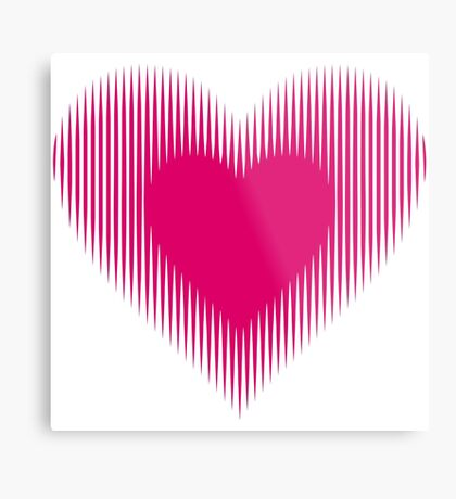 My Heart Beats For You Metal Print