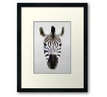 Pixelated Zebra Framed Print