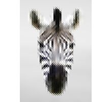 Pixelated Zebra Photographic Print