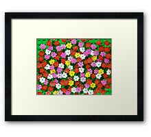 Flower Garden Framed Print
