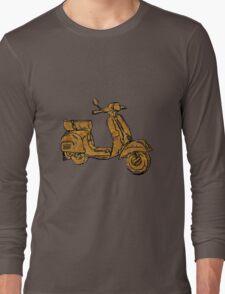 Rusty Vespa Scooter Piaggio Long Sleeve T-Shirt