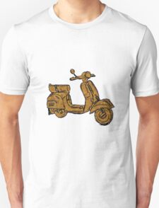 Rusty Vespa Scooter Piaggio T-Shirt
