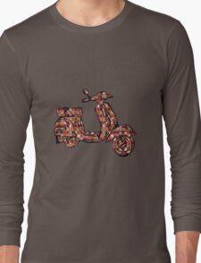 Vespa Piaggio Bajaj Scooter plaid Long Sleeve T-Shirt