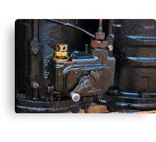 Steam train engine detail Canvas Print