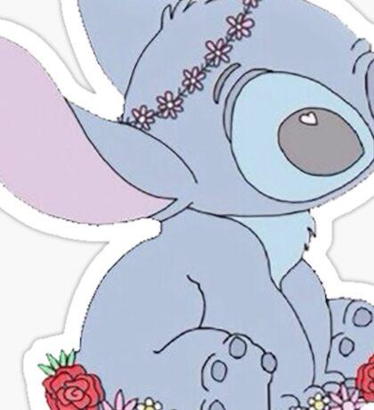 Stitch Flower Crown Sticker
