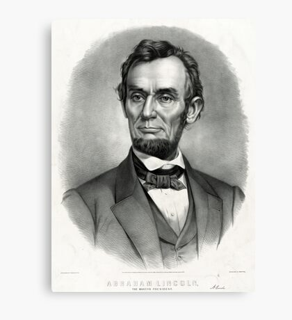 Abraham Lincoln The martyr president - assassinated April 14th 1865 - 1865 Canvas Print